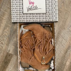 Shoes - COPY - Very Volatile Fringe Western Boots
